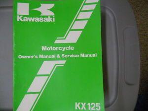 Kawasaki Factory Service Repair Shop Manual 1986 KX125E1 KX125 E1