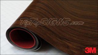"3M Di NOC Marine Teak Wood Grain Wrap Vinyl 12"" x 48"""