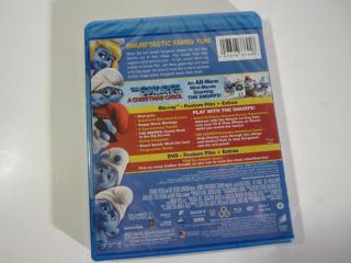 The Smurfs New 3 Disc Combo Blu Ray DVD UV DC Christmas Carol 2011 NIP SEALED