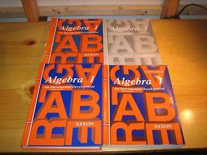 Saxon Math Algebra 1 Set Hardcover Textbook Solution Manual Tests Answer Key