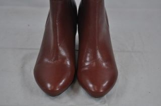 Gentle Souls by Kenneth Cole Rust Brown Leather Lucinda Knee High 3""