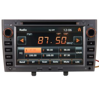 New Car GPS Navigation Radio HD Touch Screen TV DVD Player for 08 11 Peugeot 308