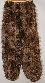 3D Realtree Camo Hunting Leaf Net Ghillie Suit Jacket and Trousers 32547
