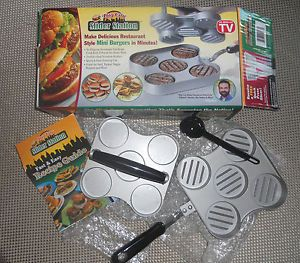 New Big City Slider Station Mini Burger Hamburger Maker as Seen on TV