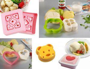 5 Pcs Heart Bear Clover Sandwich Maker Bread Mold Mould Stamp Cutter Pastry Cute