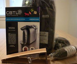 CBTL Sensio Americano Single Cup Coffee Espresso Maker Brewer Pod System New