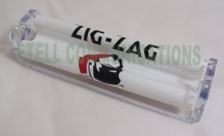 Zig Zag King Size Crystal Cig Rolling Machine Clear Cigarette Roller Brand New
