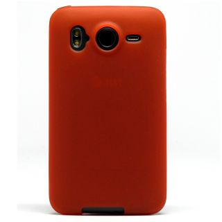Bright Red TPU Candy Skin Case Cover Screen Protector HTC Inspire 4G Desire HD
