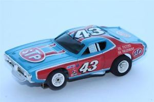 Aurora AFX Slot Car Dodge Charger Stock Car TV Guide Petty Promo w Stickers
