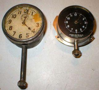 2 Antique Phinney Walker Car Dash Clock Gauge Buick Ford Model T Chevrolet Dodge