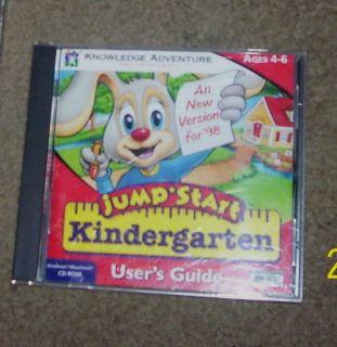 Knowledge Adventure Jumpstart Kindergarten for PC Mac CD ROM Users Guide