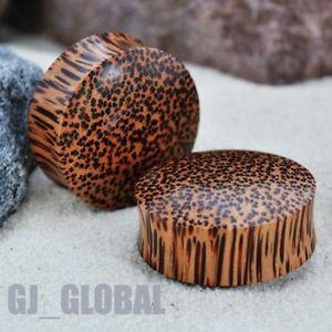 Pair of Coconut Wood Ear Plugs Big Gauges Organic Natural Plug Earlet Spools