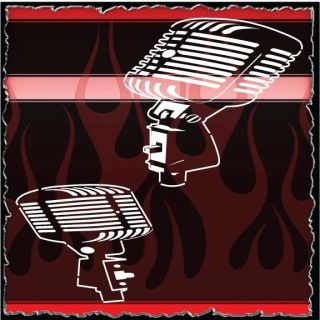 Microphones Airbrush Stencil Template Motorcycle Chopper Paint