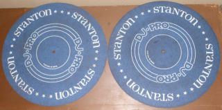 Vintage RARE Stanton DJ Pro Turntable Slip Mats for Technics 1200
