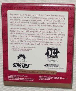 Star Trek USS Enterprise Keepsake Ornament Stamp 1999