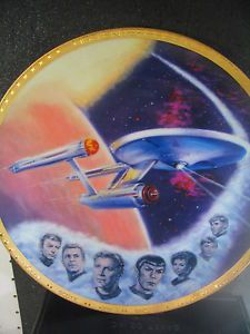 Star Trek Ernst USS Enterprise NCC 1701 Large Plate Ed w Certificate