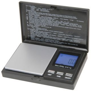 Digital Pocket Scales 500g Large Blue LCD Display 0 1g