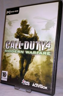Call of Duty 4 Modern Warfare PC DVD ROM 2007 Game Disc CD Key Cod COD4