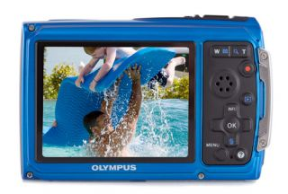 New Olympus Tough TG 310 14MP Digital Camera Blue Bundle Waterproof Shockproof