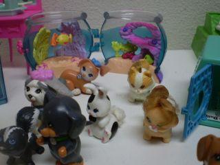 Littlest Pet Shop Lot LPS 51 Animals Dog Cat Kennel Care Center Electronic Game