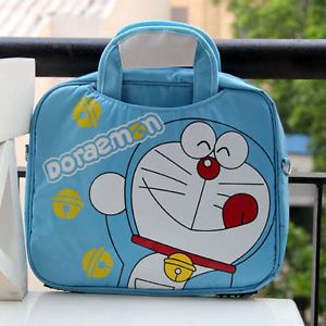 "Doraemon 14"" Laptop Notebook Bag Hand Tote Blue 29383"