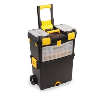 MOBILE WORK SHOP 2 IN 1 TOOL BOX CHEST TROLLEY CART STORAGE ORGANIZER