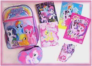 Pony BACKPACK Pinkie Pie LUNCHBOX SCHOOL Supplies FOLDERS NOTEBOOKS
