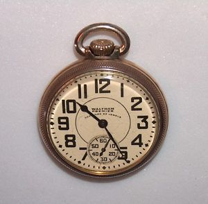 Waltham Premier Vanguard 23 Jewels 6 POS Railroad Grade Running Pocket Watch