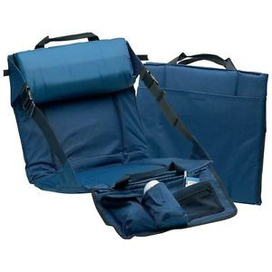 Stadium Seat Padded Lumbar Portable Folding Bleacher Chair Storage Pockets