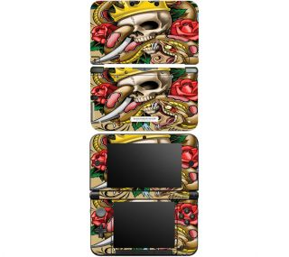 WL1 Nintendo DS DSi 3DS XL Decal Skin Sticker Cover Traditional Tattoo 1