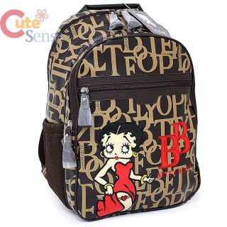 Details about Betty Boop Laptop Bag School Large Backpack   Leather