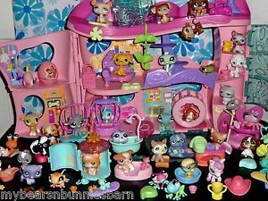 Littlest Pet Shop Cozy Care Adoption Center Biggest Husky Basset Persian Big Lot