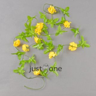 Lifelike Artificial Fake Flowers Vine Party Home Outdoor Floral Carnation Rose