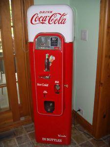 Vintage Refurbished Vendo 44 Coca Cola Vending Machine Excl Cond