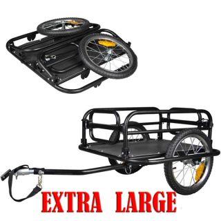 """Veelar Foldable 16"""" Bike Cargo Trailer Shopping Utility Trailer Brand New"""