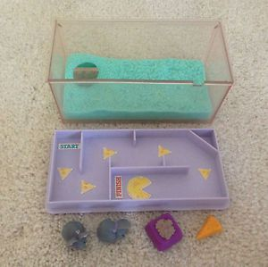 Vintage Littlest Pet Shop Store Marching Mice with Magic Maze Food Set