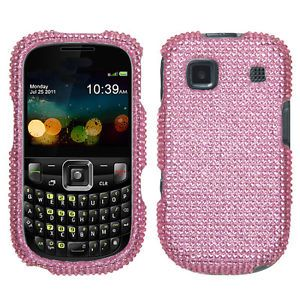 At T ZTE Z431 GoPhone Crystal Diamond Bling Hard Case Phone Cover Pink