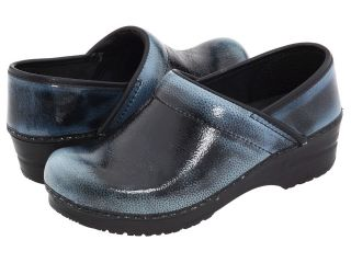 Womens Sanita Professional Kelly Blue Patent Clogs Size