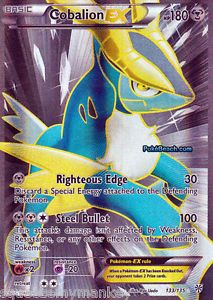 Pokemon Card Plasma Storm Ultra RARE Holo Cobalion EX Full Art Mint