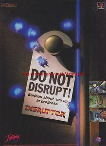 Disruptor PlayStation Game 1997 Magazine Advert 1097
