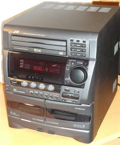 Shelf Stereo System JVC CA D4T Double Tape 3 CD Changer Player