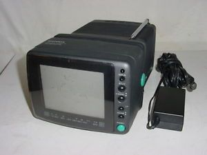 "Vintage Magnavox RD0510 5"" CRT Color Television Portable TV Monitor Video Out"
