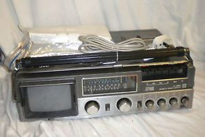 Ultra RARE Vintage Television TV Radio Cassette JVC Colour CX 500GB Portable