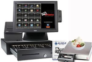 Aldelo All in One POS Frozen Yogurt Restaurant Complete System 1 Station New