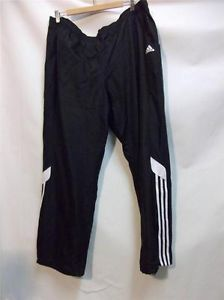 Adidas Mens Track Pants Adna Rev Black White Running Training Size 2XL Striped