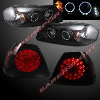 "2004 2005 Chevy Impala Dual Halo Projector Headlights ""L E D "" Tail Lights LED"