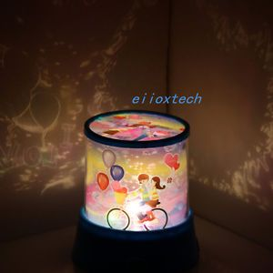 Lover on The Bike Projector LED Lamp Night Light Romantic Light USB Cable Gift
