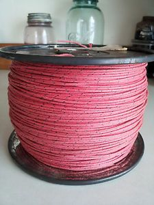 Vintage Antique Western Electric Cloth Tube Stereo Amplifier Speaker Wire