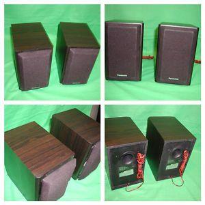 2 Panasonic Bookshelf Floor Stereo Speakers Model SB PM01 Bundle w Speaker Wire