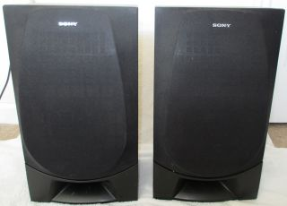 Pair 2 Sony SS G1300 Bookshelf Speakers 6 Ohm Black